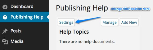 Publishing Help ‹ Lab Dummy — WordPress