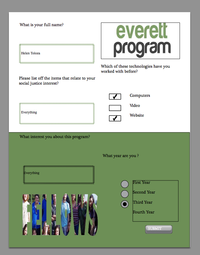 finished interactive form